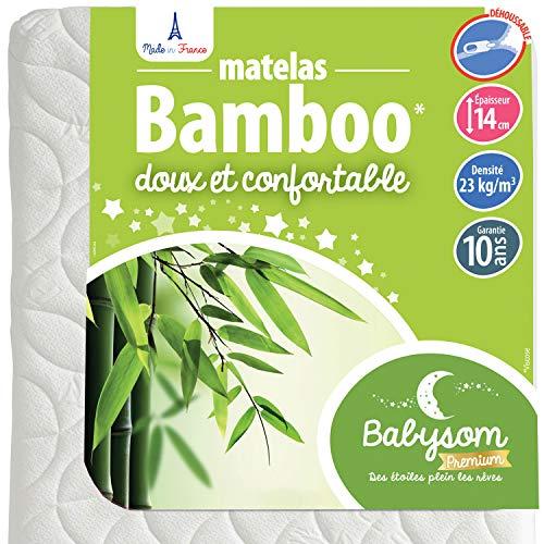 Babysom Babymatras, overtrek van bamboe.