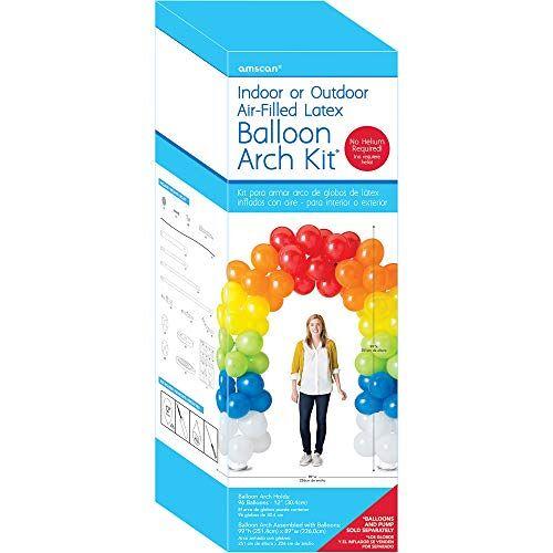 amscan 117866 Ballonboog latex set, 70 ballonnen, grootte opgesteld 226 x 251 cm, ballonnen, decoratie