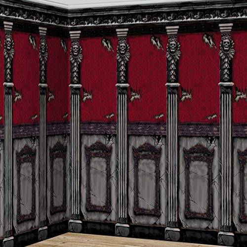 """falksson XL wanddecoratie """"kamerwand van het griezelige herenhuis"""" 2-delig 6 m"""