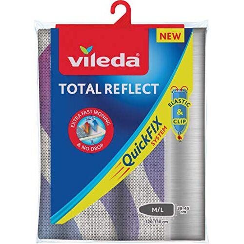 Vileda Total Reflect Strijkplankovertrek, taupe-antraciet, voor verkorte strijktijd, grijs