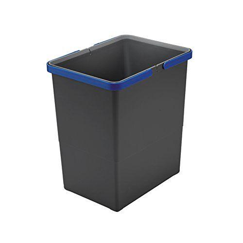 ELLETIPI Afdekbox emmer met handvat voor vuilnisbakken Ecofil H34, grijs