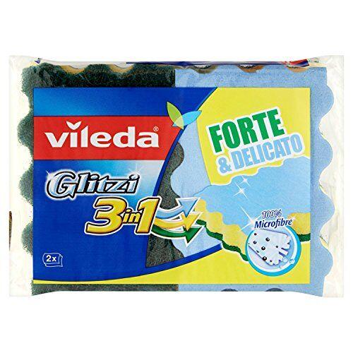 Vileda Glitzi spons 3 in 1 5 verpakkingen à 2 sponzen [10 spons], 5 stuks