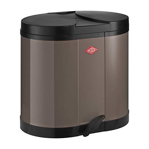 Wesco Eco-verzamelaar 170-2 x 15 liter warm grijs