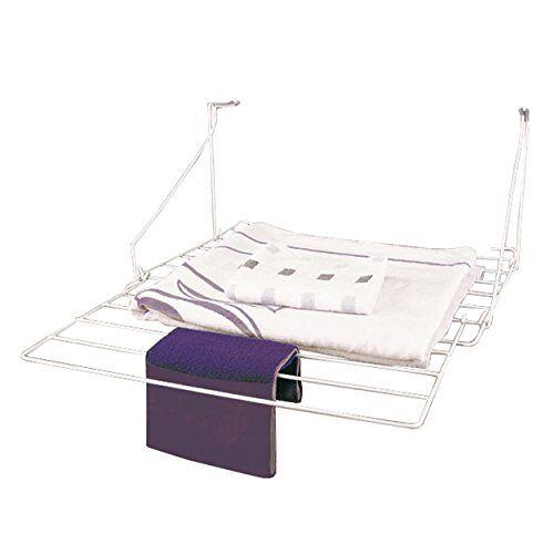 MSV wasdroger voor balkon 7m van staal in wit, 3,20 x 54,00 x 52,30 cm