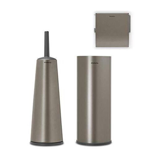 Brabantia ReNew Toiletaccessoires, set van 3 Platinum