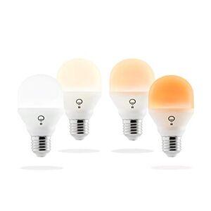 LIFX HB4L3A19MTW08E27 Mini Day & Dusk (E27) Slimme Wifi-Ledlamp, Verstelbaar, Dimbaar, Geen Hub Vereist, Werkt Met Alexa, Apple Homekit En Google Assistant, Pak Van 4, Meerkleurig