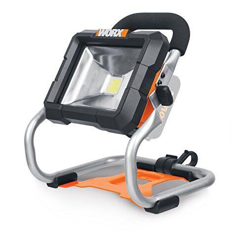 WORX WX026.9 Led-werklamp, 20 V, 360 graden draaibare bouwspot met ledlicht voor de ideale werkverlichting, zonder accu en oplader