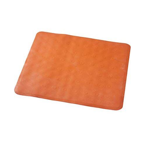 RIDDER Basic douchemat, 100% synthetisch rubber (TPE = thermoplastisch elastomeer), oranje, ca. 51 x 51 cm.