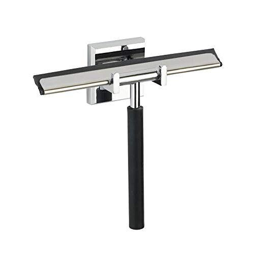Wenko Power-Loc badkamerwisser Laceno douchewisser, bevestiging zonder boren, kunststof (ABS), 18,5 x 17 x 5 cm, chroom