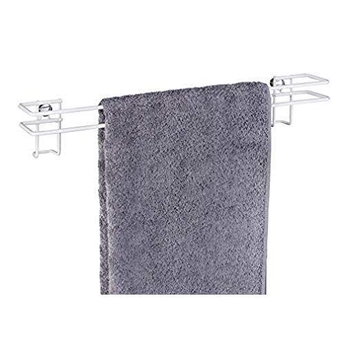 Wenko Classic Plus 22810100 Handdoekstang, handdoekhouder, badhanddoekstang met hoogwaardige roestbescherming, staal, 45 x 7,5 x 8,5 cm, wit