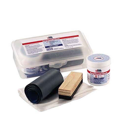 Sanitop-Wingenroth Verzorgingsset voor het reinigen en verwijderen van lichte krassen, acryl badkuipen, acryl badkuipen.