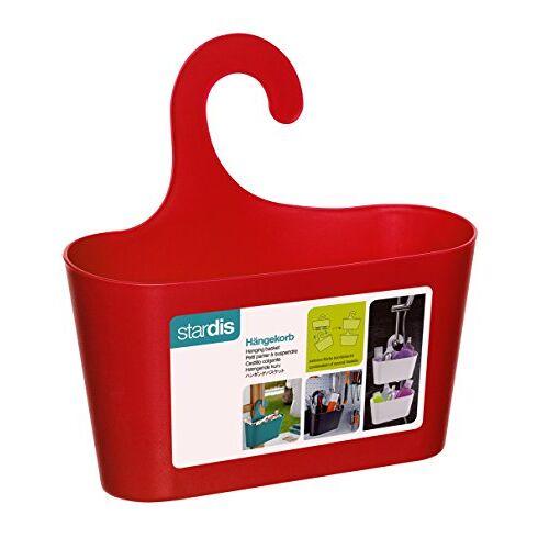stardis Douchemand rood met haken voor het ophangen van de doucheplank badkamerplank badkamerrek gebruiksvoorwerp hangrek