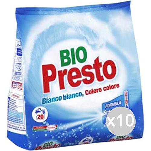 Bio Presto Set van 10 20 wasmachine, wasmachine, wasmiddel, meerkleurig, enkelvoudig
