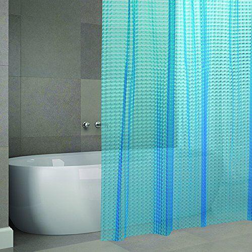"""MSV Cotexsa by  Premium anti-schimmel Eva 3d douchegordijn antibacterieel, wasbaar, 100% waterdicht -""""Bombay"""" 180x200cm Made in Spain"""