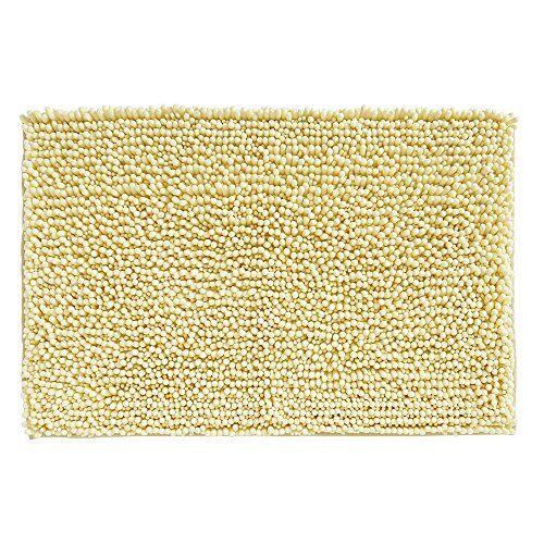 iDesign Badkamertapijt/Badmat Microvezel Lime Geel (51 cm x 76 cm