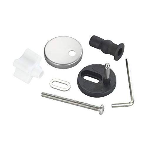 Wenko 290221100 Bevestiging voor Easy-Close WC-brillen WC-bril bevestigingsvervangingsset, roestvrij staal, mat