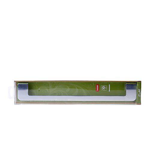 TATAY Platte Middelgrote Handdoek Rail, Aluminium, Zilver, Een