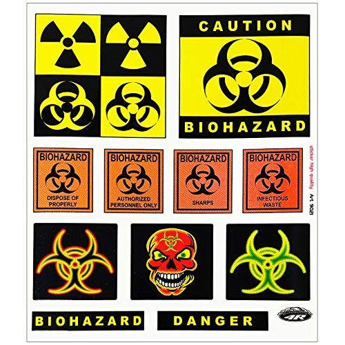 Quattroerre 9021 Biohazard Danger, 20 x 24 cm