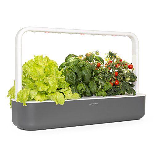 Click & Grow 4742793008899 Smart Garden 9, donkergrijs, 60,5 x 18,5 x 40 cm