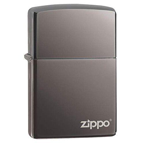 Zippo Aansteker 60001213 Black Ice w Logo benzineaansteker, 1 x 3,5 x 5,5 cm