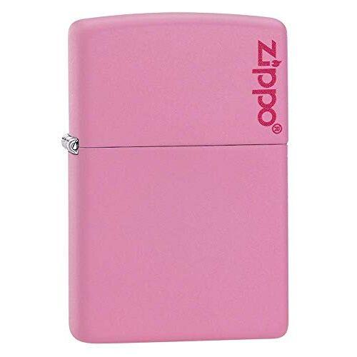 Zippo 60001206 aansteker logo benzine-aansteker, messing, roze mat
