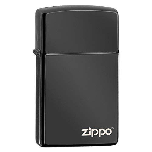Zippo 60001264 Ebony Slim aansteker Logo benzine-aansteker, messing