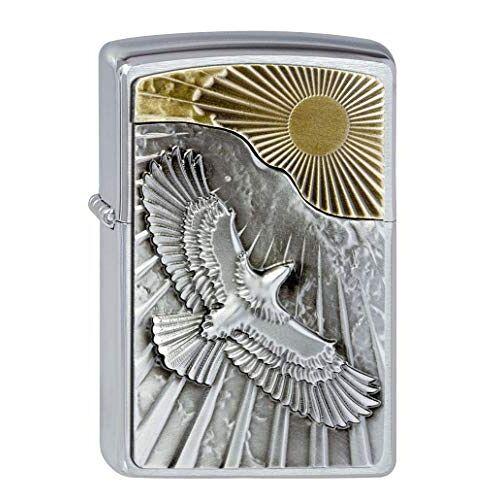 Zippo Aansteker 2003192 Eagle Sun-Fly Emblem benzine-aansteker, messing
