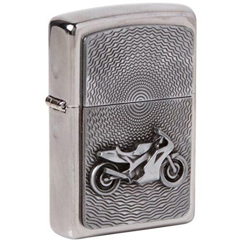 Zippo Aansteker 2000225 motor bike embleem benzine-aansteker, messing