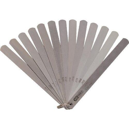 KS Tools 300.0618 zuigerspelleer, 13 vellen, 0,05-1 mm, 200 mm lang