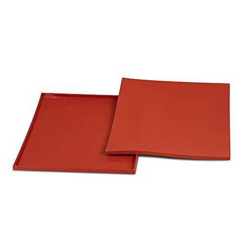 silikomart 23.022.00.0065 Bakmat Tapis Roulade--32,5 x 32,5cm, Silicone, rood