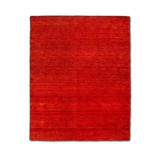 Morgenland Teppiche Morgenland Gabbeh tapijt roest UNI effen handgeweven scheerwol 140 x 70 cm