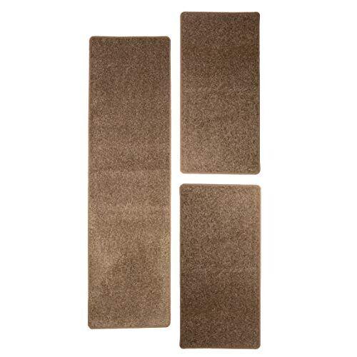 Misento Shaggy hoogpolig tapijt voor de woonkamer langpolig, getest op schadelijke stoffen 100% polypropyleen, taupe bedomranding: 1x 67 x 250 cm 2x 67 x 140 cm