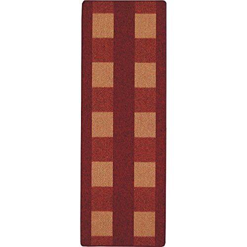 andiamo , Tapijt plat weefsel Dalia duurzaam, getest op schadelijke stoffen 67 x 120 cm rood