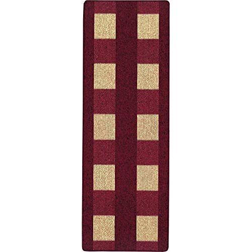 andiamo , Tapijt plat weefsel Dalia duurzaam, getest op schadelijke stoffen 67 x 200 cm rood