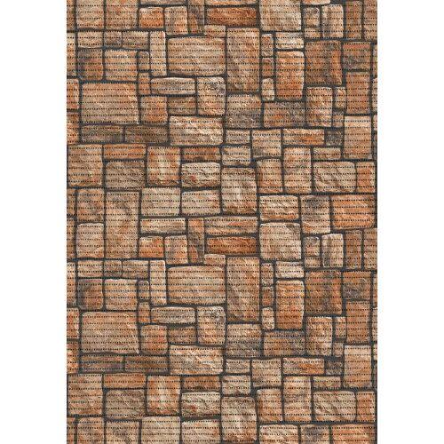 ID Mat multifunctioneel tapijt, 90% geëxpandeerd pvc-schuimstof op polyesterweefsel, bruin, 0,65 x 15 m