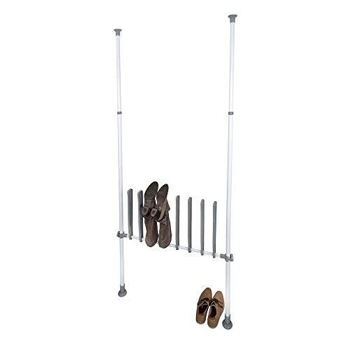 Wenko Herkules Boothouder voor 4 paar laarzen, ideaal voor winterlaarzen, rubberlaarzen, rijlaarzen, staal, 94 x 45 x 6,5 cm, wit
