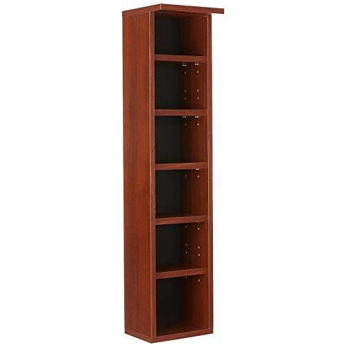 """VCM Rek DVD CD kast rek meubilair opslag houten plank staand rek meubilair aanbouwprogramma kern-notenboom """"Elementa"""