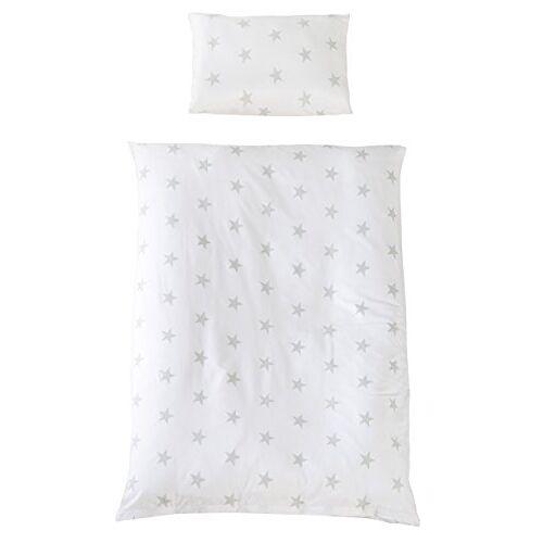 roba beddengoed 2-delig, collectie, kinderbeddengoed 100x135 cm, 100% katoen, dekbedovertrek & kussensloop voor baby's & kinderen Little Stars wit Little Stars wit