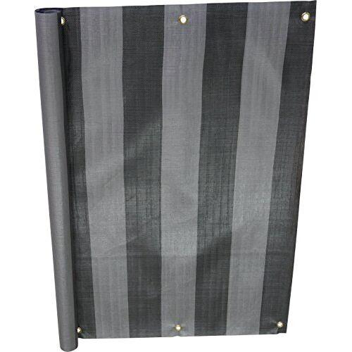 Angerer balkonbekleding, PE-weefsel, blokstrepen Nr. 3800 90 cm hoch, Länge: 6 Meter grijs