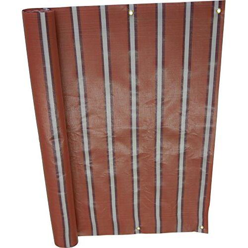 Angerer balkonbekleding, PE-weefsel, blokstrepen Nr. 4900 75 cm hoch, Länge: 8 Meter rood