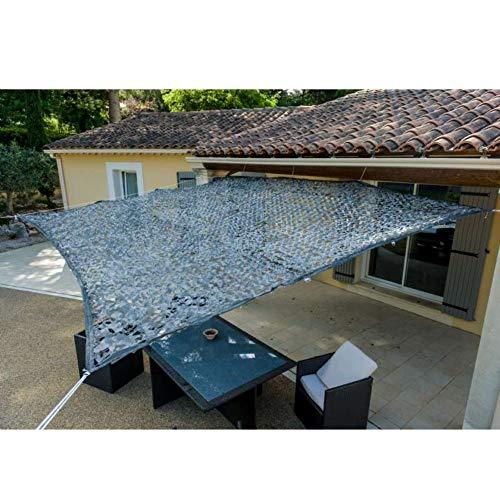 Werkapro 10794 Luifel van polyester, rechthoekig, 3 x 4 m, grijs, voor balkon, terras en tuin