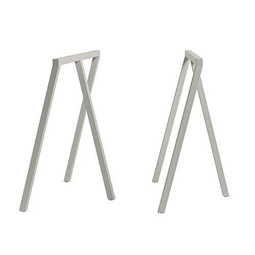 HAY Tafelbokken, staal, grijs, hoogte: 72 cm, diepte: 37 cm, lengte: 64,5 cm
