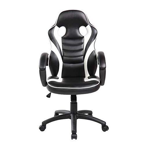 Studio Decor Sof14 Bureaustoel met armleuningen Eén maat Zwart-Wit