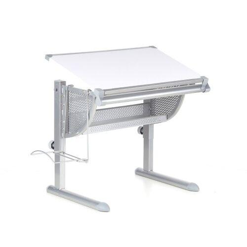 hjh OFFICE 705100 kinder bureau BELIA wit/zilver verstelbaar compact kinderbureau kantelbaar tafeloppervlak