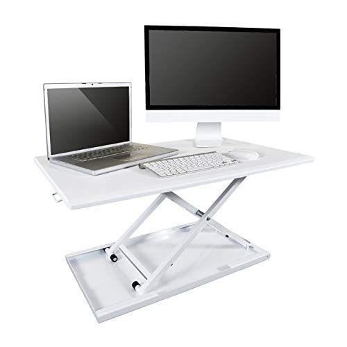 LUXOR DC-BASIC-W Sit-Stand Werkplek, wit, één maat