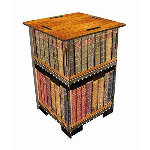 Werkhaus Fotokruk 29,5 x 29,5 x 42 cm motief antieke boeken kruk, MDF, kleurrijk, 29,5 x 29,5 x 42 cm