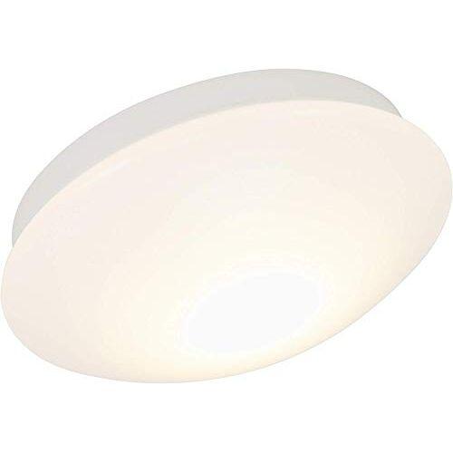 Briloner Leuchten LED badkamerlamp, badkamerlamp, plafondlamp, IP44 spatwaterdicht, ideaal als badkamerlamp, eenvoudige montage, aangenaam warm wit licht, Ø 30 cm, kleur: wit