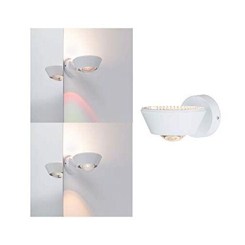 Paulmann 70946 LED plafondlamp WallCeiling Sabik IP44 230V rond incl. 1x9 / 1x4 Watt dimbare plafondverlichting wit mat badkamer lamp kunststof badkamerverlichting 2700 K