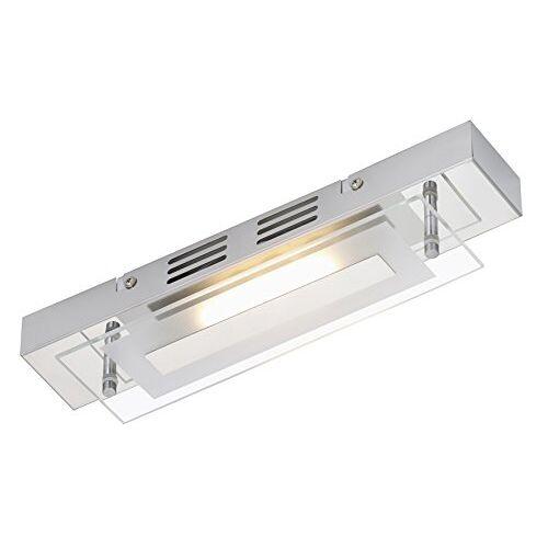 Briloner Leuchten Plafondlamp, LED-lamp, plafondlamp, badkamerlamp, badkamerlamp, LED-spots, woonkamerlamp, plafondspot, glas gedeeltelijk gematteerd