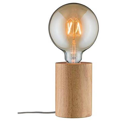 Paulmann 79640 Neordic Talin tafellamp max. 1x20W tafellamp voor E27 lampen Bedlampje hout 230V hout zonder lampen
